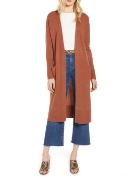 Wool & Cashmere Long Cardigan by Halogen®