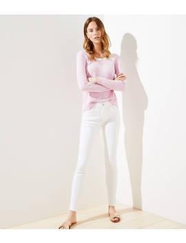 High Waist Slim Pocket Skinny Jeans In White by Loft