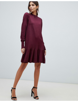 Y.A.S Frill Hem Sparkle Knitted Dress by Y.A.S.