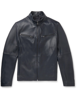 Nocklin Leather Jacket by Hugo Boss