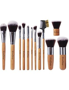 Emax Design 12 Pieces Makeup Brush Set Professional Bamboo Handle Premium Synthetic Kabuki Foundation Blending Blush... by Emax Design