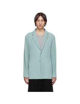blue-pleats-tailored-blazer by homme-plissÉ-issey-miyake