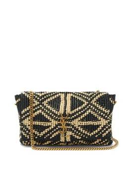 Kate Medium Raffia Cross Body Bag by Saint Laurent
