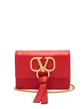 V Ring Mini Leather Cross Body Bag by Valentino