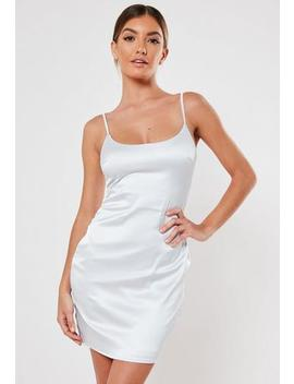 Silver Satin Cami Bodycon Mini Dress by Missguided