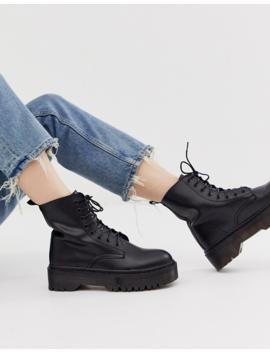Glamorous Black Chunky Flatform Boots by Glamorous