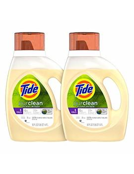 Tide Purclean Plant Based Laundry Detergent Liquid, Honey Lavender Scent, 50 Oz, Pack Of 2, 64 Loads Total... by Tide