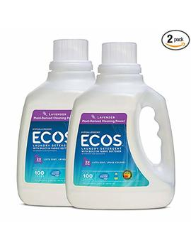 Earth Friendly Products Ecos 2 X Hypoallergenic Liquid Laundry Detergent, Lavender, 200... by Earth Friendly Products