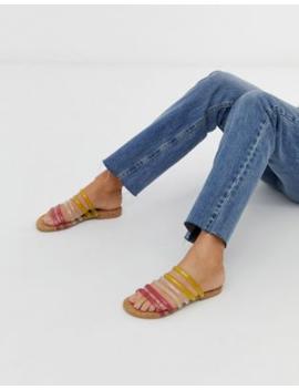 Asos Design Frosting Tubular Flat Sandals by Asos Design