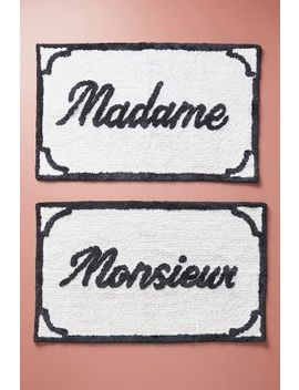 Monsieur & Madame Bath Mats, Set Of 2 by Anthropologie