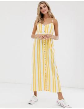 Asos Design Belted Maxi Dress In Stripe by Asos Design