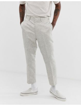 Asos Design Tapered Suit Trousers In Silver Jacquard by Asos Design