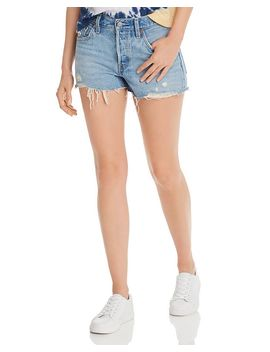 501 Cutoff Denim Shorts In Luxor Light Destructed by Levi's