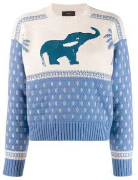 Elephant Knitted Jumper by Alanui