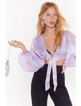 Too Star Gone Tie Crop Top by Nasty Gal