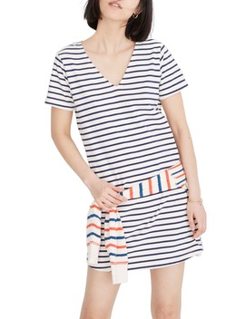 Yorktown Strip Relaxed T Shirt Dress by Madewell