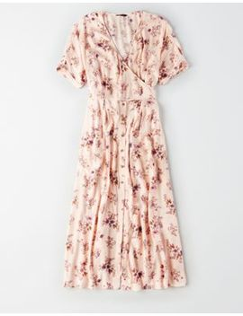 Ae Studio Wrap Kimono Maxi Dress by American Eagle Outfitters