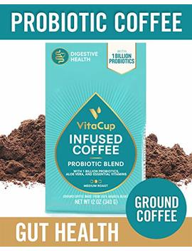 Vita Cup Probiotic Blend Ground Coffee Bags 12oz With 1 Billion Probiotics, Aloe Vera, B Vitamins | Keto | Paleo |... by Vita Cup