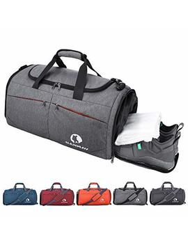 Canway Sports Gym Bag, Travel Duffel Bag With Wet Pocket & Shoes Compartment For Men Women, 45 L, Lightweight by Canway