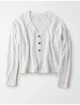 Ae Plush Henley Sweatshirt by American Eagle Outfitters