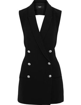 Double Breasted Cutout Button Embellished Crepe Mini Dress by Versus Versace