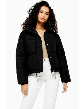 Black Puffer Jacket by Topshop