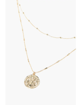 Layered Coin Pendant Chain Necklace by Forever 21