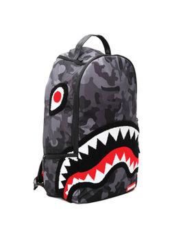 Nueva Marca Sprayground Bolso De Lujo Chenille Negro Camo Shark by Ebay Seller