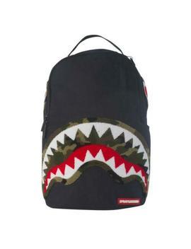 Nuevo Chenille Verde Camuflaje Shark De Lujo Sprayground Bolso by Ebay Seller
