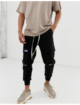 The Couture Club Utility Trousers In Black by The Couture Club
