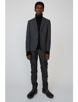 Wool Suit Jacket Dark Grey Melange by Acne Studios