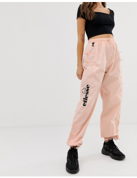 Ellesse Recycled Tracksuit Bottoms With Side Logo And Toggles by Ellesse