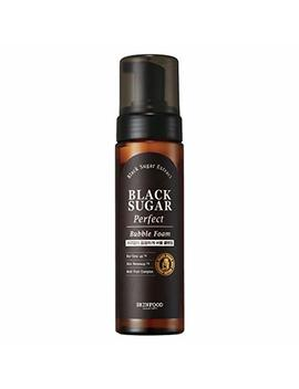 Skin Food Black Sugar Perfect Bubble Foam 6.7 Fl. Oz. (200ml)   Exfoliating And Moisturizing Soft Bubble Cleansing Foam, Removes Impurities And... by Skin Food Since 1957