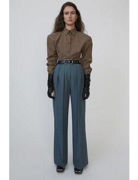 Double Pleated Trousers Mineral Blue by Acne Studios