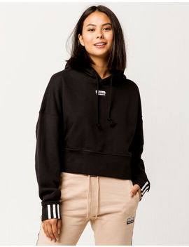 Adidas Cropped Black Womens Hoodie by Adidas