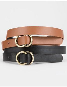 Full Tilt 2 Pack O Ring Buckle Belts by Full Tilt