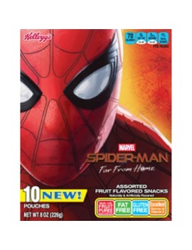 Kellogg's Spider Man Fruit Snacks   10ct by Man Fruit Snacks