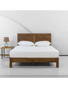 Priage By Zinus 12 Inch Acacia Wood Platform Bed With Headboard by Zinus