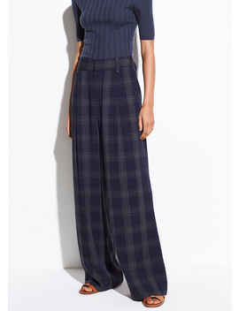 Plaid Wide Leg Pant by Vince