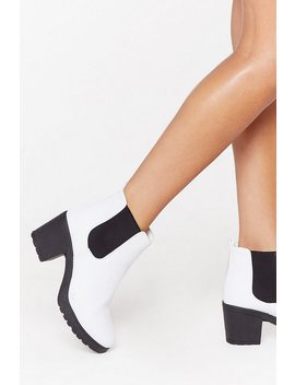 One Night Stand Faux Leather Ankle Boot by Nasty Gal