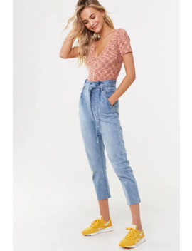 Frayed Paperbag Jeans by Forever 21