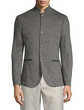 Mockneck Buttoned Jacket by John Varvatos