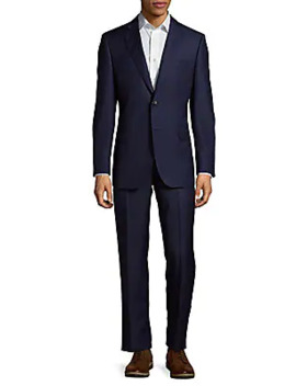 Two Piece Slim Fit Pinstripe Wool Suit by Saks Fifth Avenue