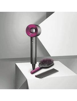 New Dyson 326217 01 Supersonic Fuchsia Hair Dryer With Comb And Paddle Brush by Dyson