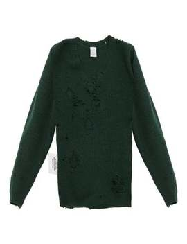 Distressed V Neck Sweater by Vetements