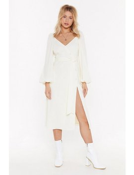 All You Need Is Puff Sleeve Midi Dress by Nasty Gal