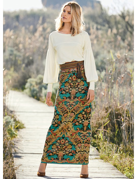 Coyoacan Pima Maxi Skirt by Peruvian Connection