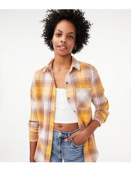 Boyfriend Plaid Button Down Shirt by Aeropostale