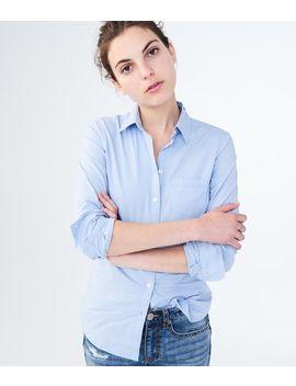 Long Sleeve Poplin Button Down Shirt*** by Aeropostale