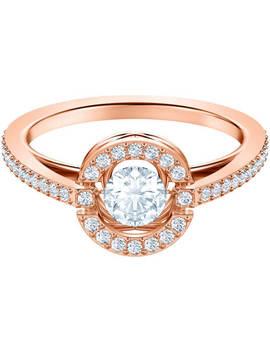 swarovski-sparkling-dance-round-ring,-white,-rose-gold-tone-plated by swarovski